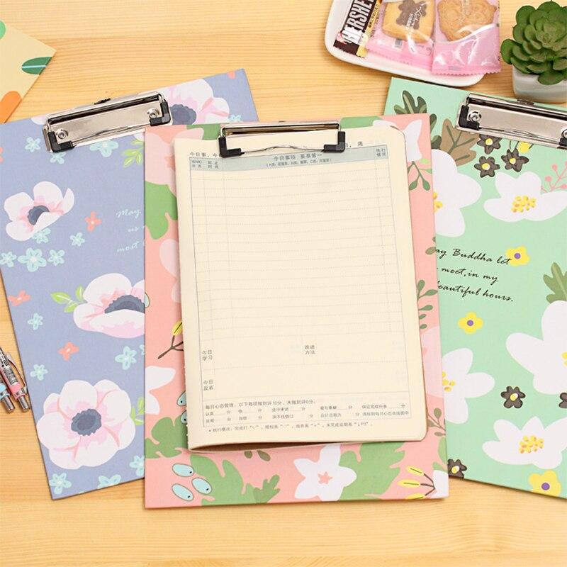 1pc Korea Creative Folder Student Papers WordPad Cartoon Folder A4 Writing Board Folder Free Shipping