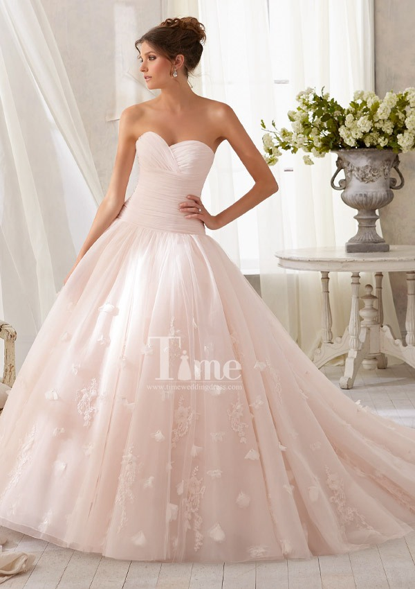 Champagne Pink Wedding Dress – fashion dresses