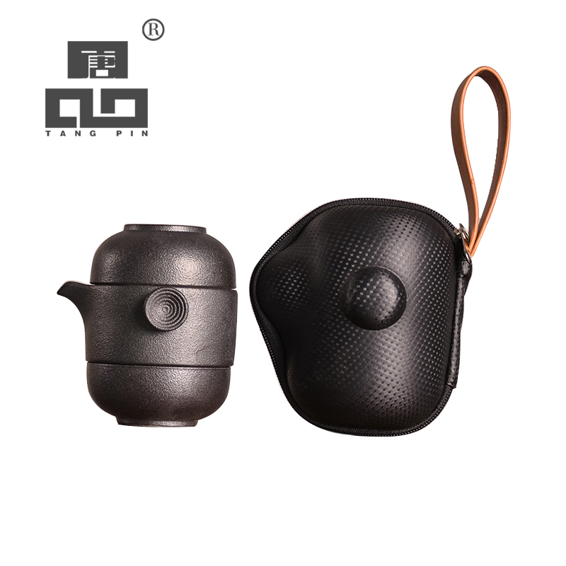 TANGPIN ceramic teapot kettles gaiwan with 2 teacups for puerh tea pot set portable travel tea