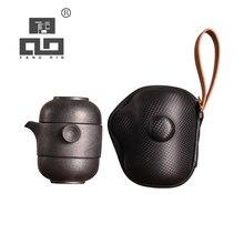 TANGPIN ceramic teapot kettles gaiwan with 2 teacups for puerh tea pot set portable travel drinkware