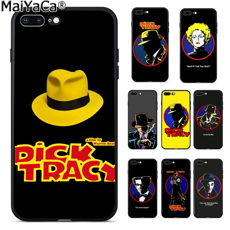 MaiYaCa Dick tracy Amazing new arrival phone case cover for Apple iPhone 8 7 6 6S Plus X 5 5S SE XS XR XS MAX Cover