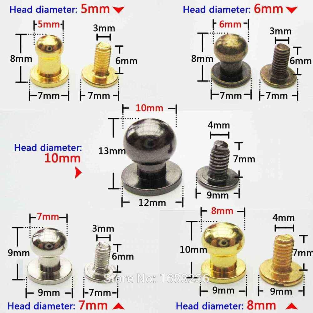10 個ソリヘッドスタッドスポット Screwback スクリューバックレザークラフトバッグベルトシカゴネジ釘リベット乳首バックル DIY