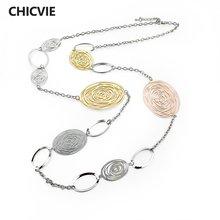 Chicvie длинное массивное ожерелье макси для женщин и девушек