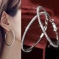 Women's Luxury Party Crystal Rhinestone Earring Hoop Ear Ring Jewelry Charms