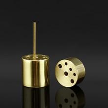 1 PCS 9 Holes Copper Censer Incense Burner Holder for 1cm 1.5cm 2cm Stick Coil Incense burner holder Home Decoration Accessories