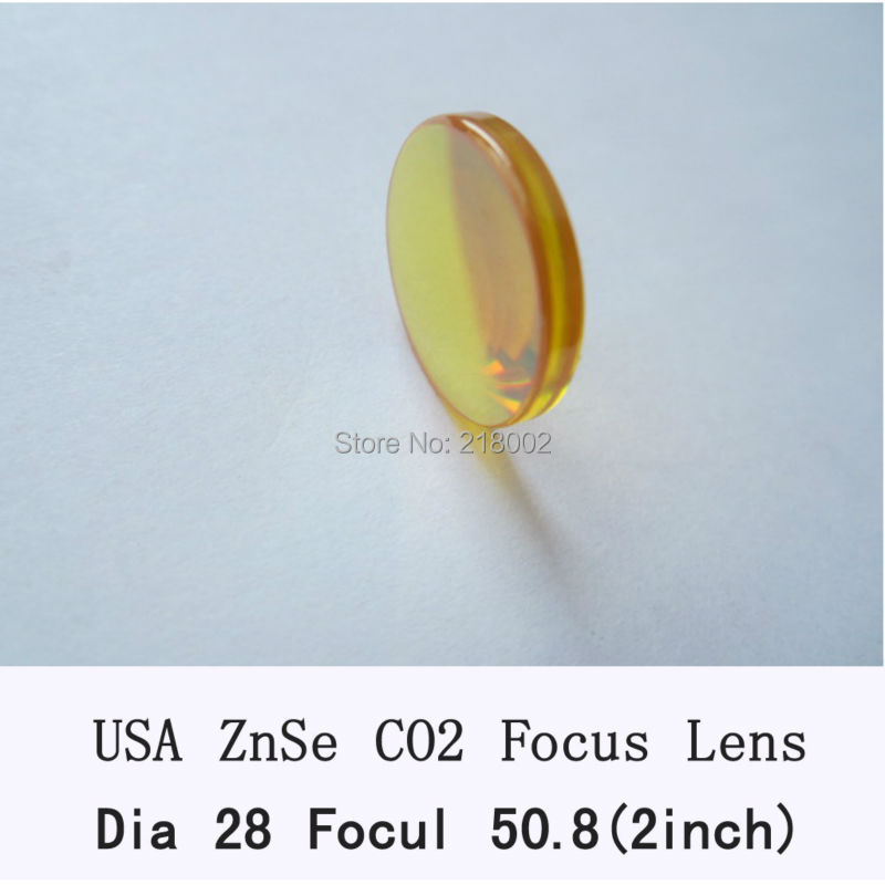 RAY OPTICS-USA ZnSe Lens 28mm dia 50.8mm/2inch focus for co2 laser Znse co2 laser lens for laser engrave and cutting machine usa znse co2 laser lens 28mm dia 50 8mm 63 5mm 2inch 2 5inch focus length for co2 laser cutting machine
