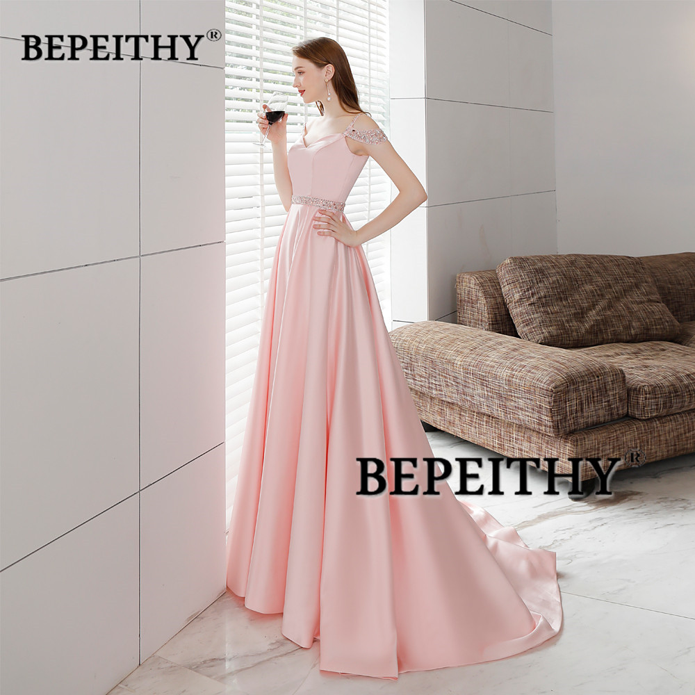 9f0d697c458 Simple But Elegant Long Evening Dress Crystal Blet Vestido De Festa 2019  New Arrival Vintage Prom Dresses Long