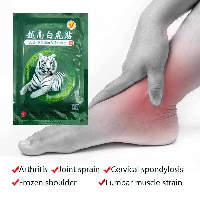 Вьетнамский Белый тигровый бальзам, китайские травы, пластыри для боли в суставах, спине, шее, лечебный пластырь, наколенники для артрита