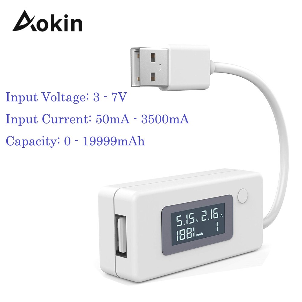 LCD Micro USB Charger Battery Capacity Voltage Current Tester Meter Detector For Smartphone Mobile Power Bank