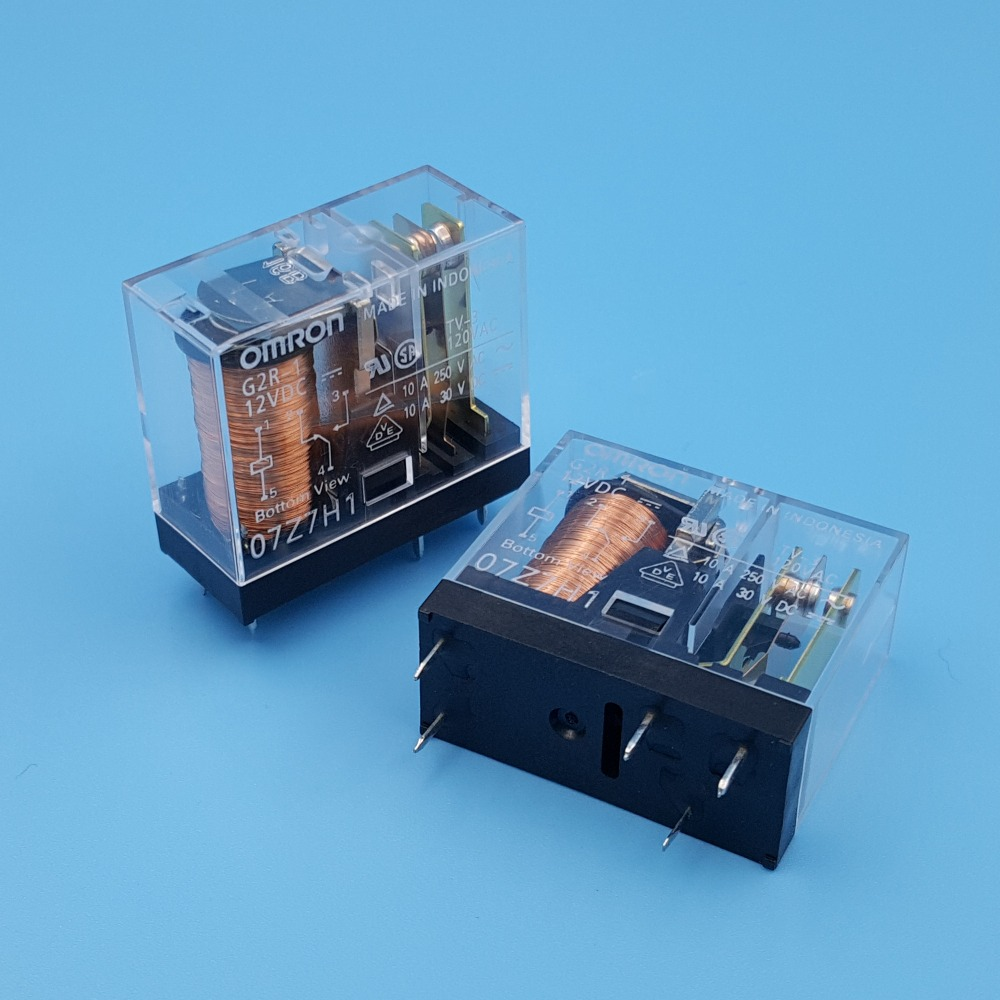 Image 3 - 10Pcs Omron G2R 1 DC12V/24V PCB Mount 5Pin SPDT Power Relay 10A/250VAC-in Relays from Home Improvement