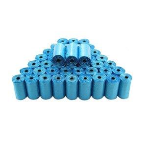 Image 2 - 40 rolka niebieskie woreczki na zwierzęce odchody pies kot odpady podnieś worek higieniczny rolka 15 torebek najgorętsza sprzedaż