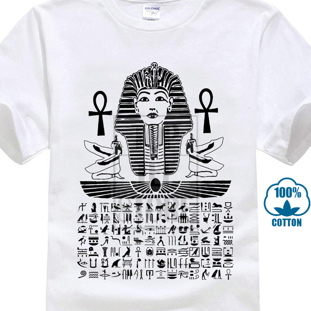 9507a455c Egipski T Shirt egipt hieroglify faraona mężczyźni bawełniane koszulki  rozmiar S 2Xl nowy