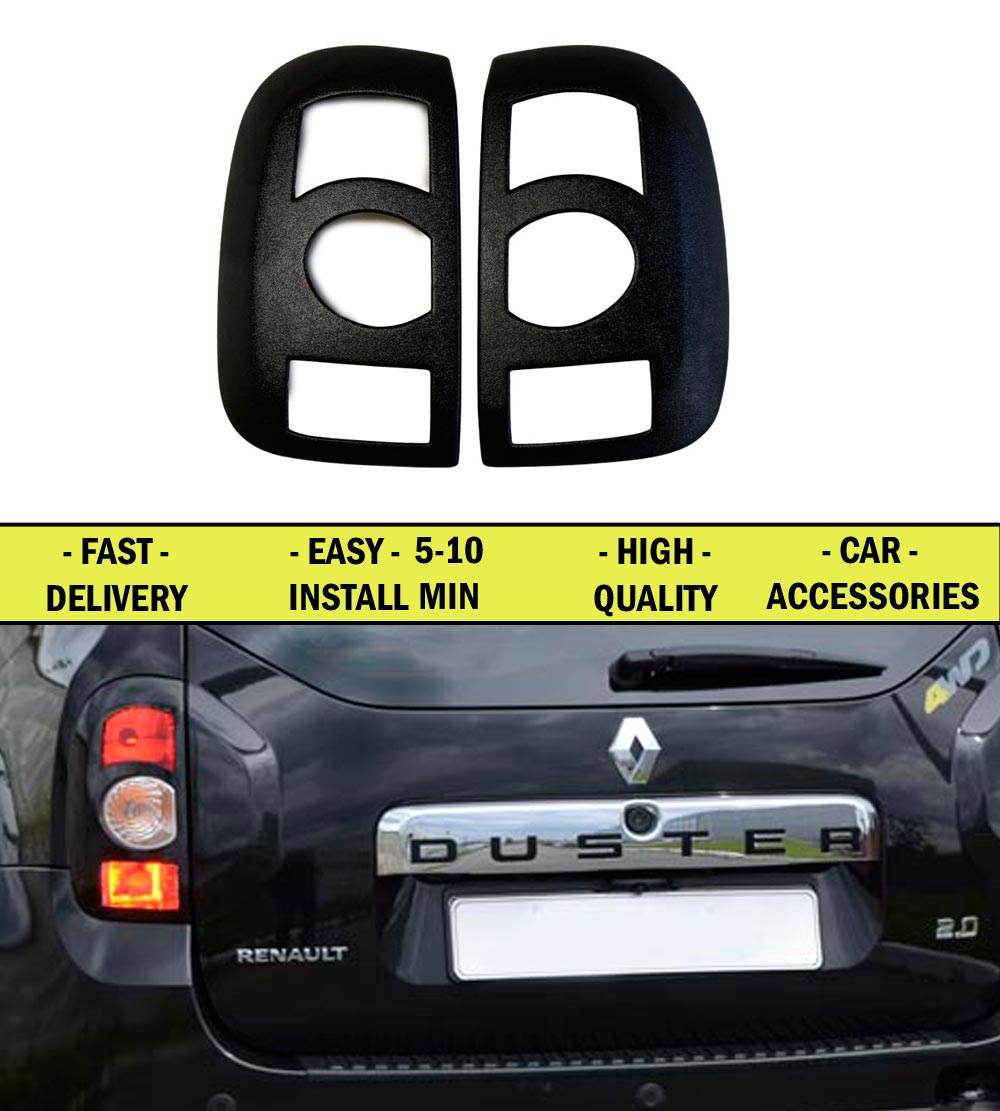 covers on rear lights for renault duster 2010 2014 abs plastic interior design light car styling. Black Bedroom Furniture Sets. Home Design Ideas