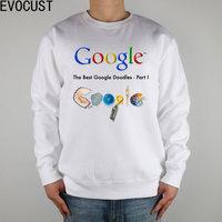 The Best Art Google Doodles Since 1998 Music Luis Royo Men Sweatshirts Thick Combed Cotton