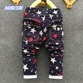 2017 nueva primavera otoño niños ocio pantalones vaqueros de Los Niños pantalones niños y niñas Impresos pantalones pantalones casuales