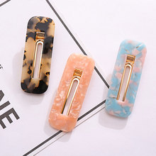Acrylic Hair Clips For Women Vintage Comb Pin Bobby Leopard Hairpin Barrettes Headbands