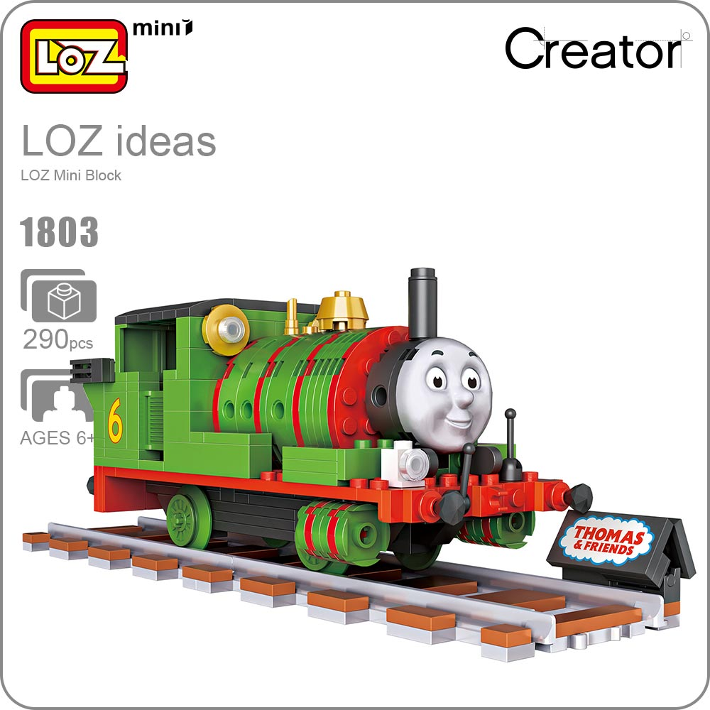 LOZ Mini Blocks Train Track Toy Character Building Blocks for Educational Funny Bricks Kids Assembly Toys for Children DIY 1803 wooden toys geometric blocks train building stacking set toy assembly pull along toys for children train blocks exercise balance