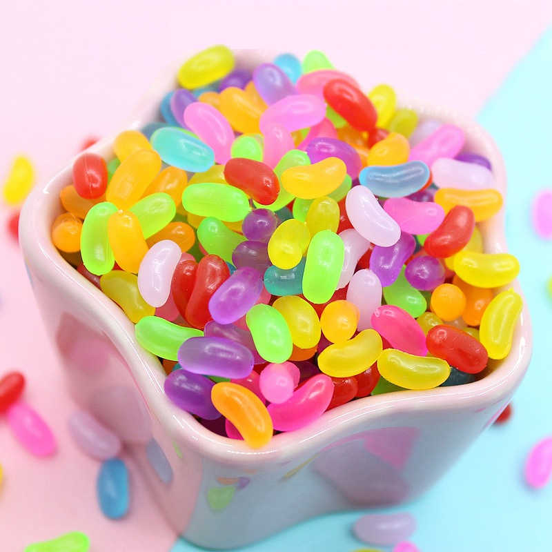 10pcs Addition Slime Supplies Accessories DIY Rainbow Beans Decoration for Charm Slime Filler Slime Kids Toys Decoration Gift E