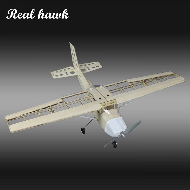 RC Plane Laser Cut Balsa Wood Airplane Kit New Cessna-172 Frame without Cover Wingspan 1000mm Model Building Kit Free shipping цена