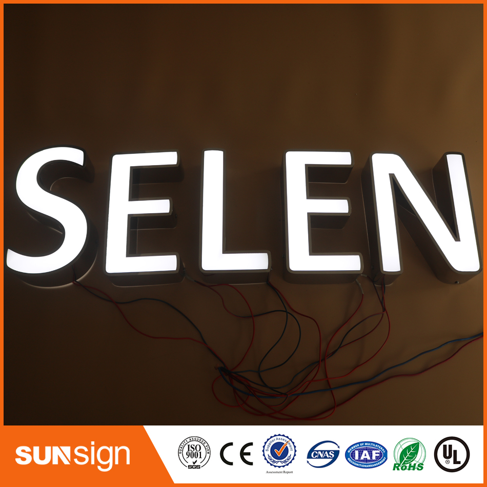 Aliexpress Factory Outlet Outdoor Front Illuminated Acrylic Letters/signs