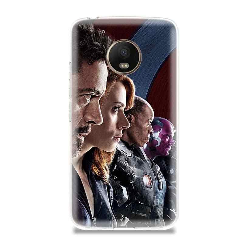 Новые мстители 4 MCU чехол для телефона из мягкого силикона ТПУ с рисунком чехол для Motorola G4 играть G5 G5S G6 плюс для MOTO E4 E5 плюс играть в подарок по индивидуальному заказу Капа