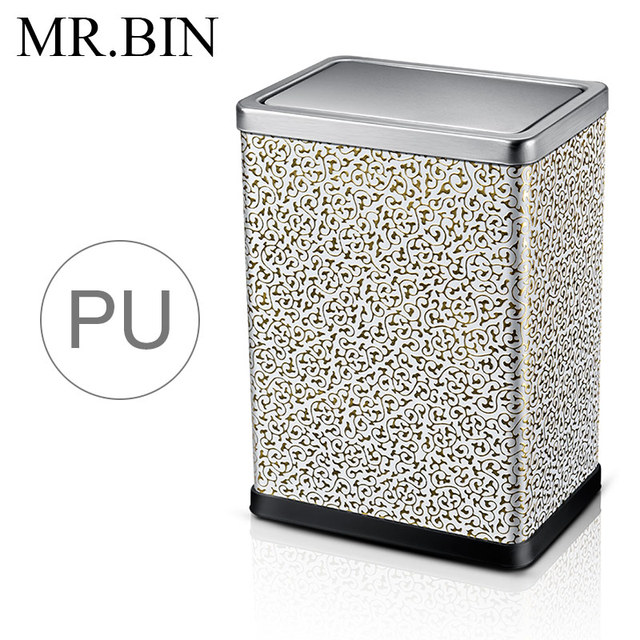 MR. BIN Prullenbak PU Materiaal Staal Rolling Cover Type Vuilnisbak ...