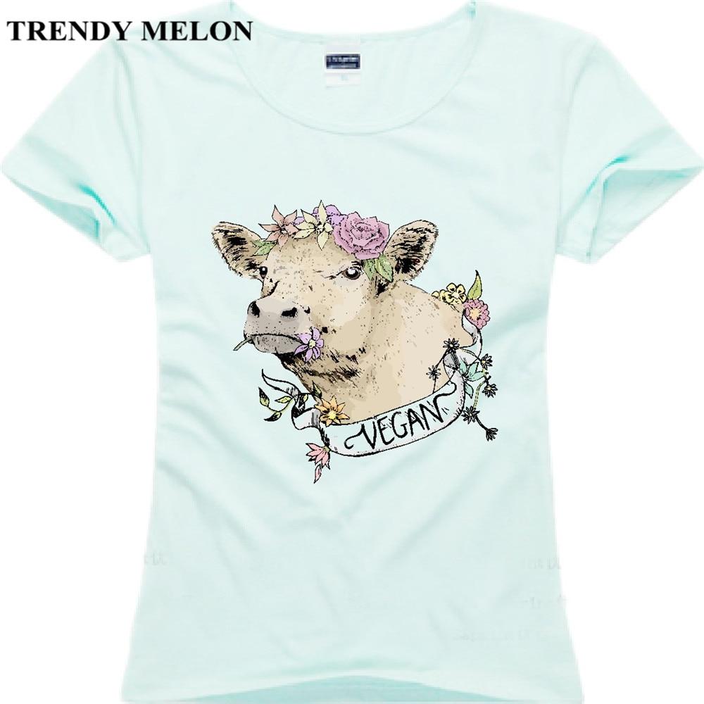 Trendy melon casual women cotton t shirt vegan friends not for Trendy t shirts for ladies