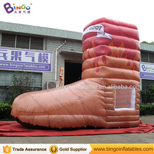 3 * 6.4 * 6.8M Inflatable Food Kiosk Shoe Shaped Mobile Outdoor Food Kiosk Candy Kiosk Booth Tent for sale
