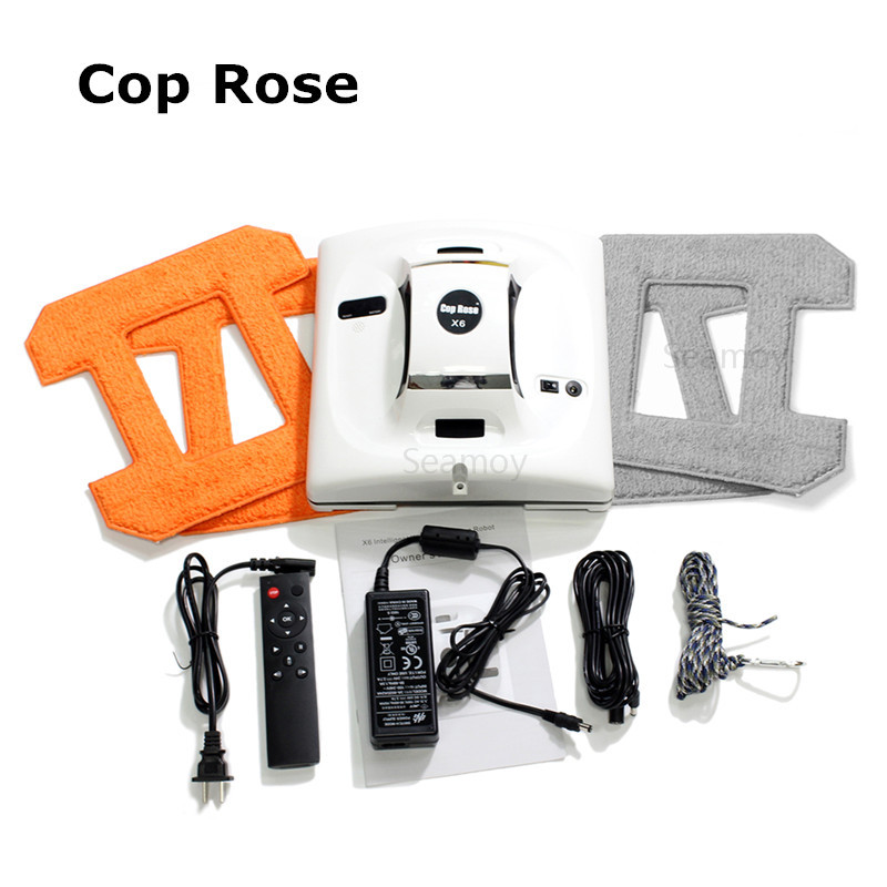 Cop Rose X6 Robot for Windows Washing Vacuum font b Cleaner b font Robot Window Glass