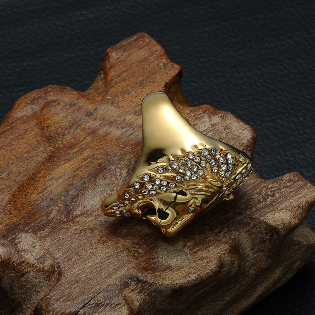 Iced Out Lion Head Ring 6