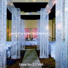 Нет accorss curain в том числе) около 30 дней отправлено, роскошные серебряные suqar вечерние украшения свадебные сцены мандап украшения