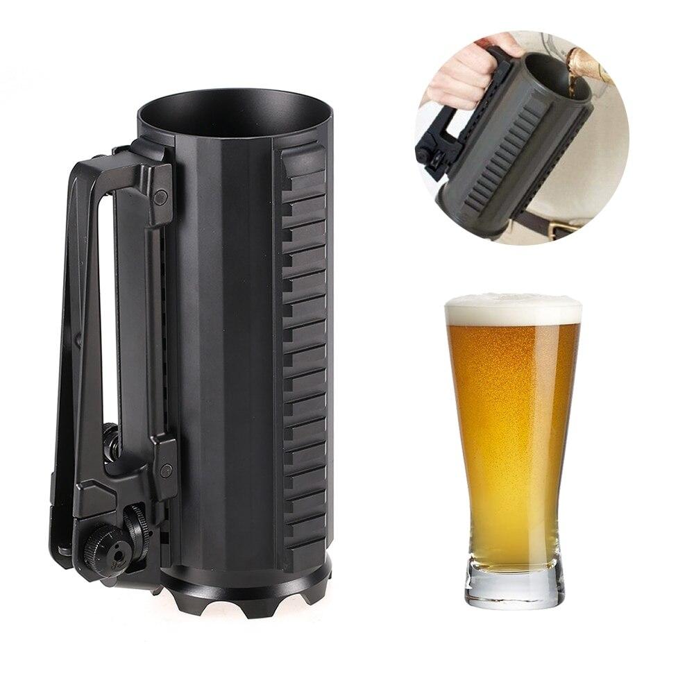 Nouvelle tasse à bière en aluminium eau café tasse à boire en plein air Camping pique-nique vaisselle en plein air tasse tactique Multi fonction détachable