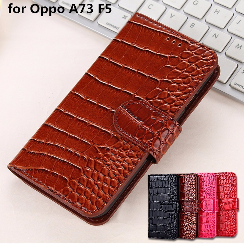 A73 Case For Oppo A73 F5 Flip Cover Pu Leather Protective Business Silicone Phone Case Coque For Oppo F5 Case