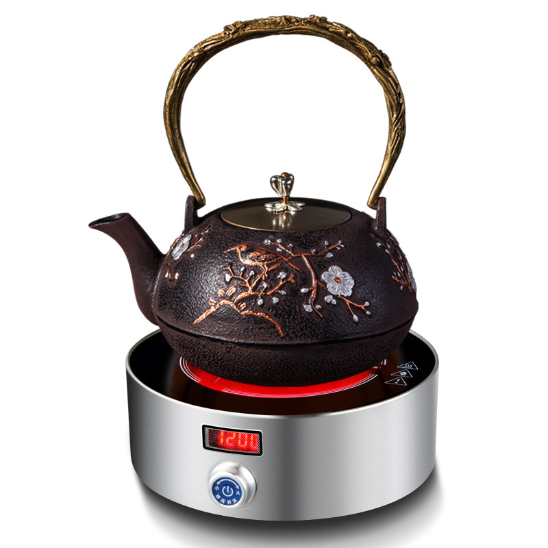 AC220 240V 50 60 hz mini fogão de cerâmica elétrica fervente chá café aquecimento 1200 w de potência 12 arquivos pode cronometrando 3 horas