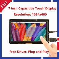 52Pi pilote gratuit 7 pouces 1024*600 TFT écran tactile capacitif pour Raspberry Pi 4 B toutes les plate-forme/fenêtres/Beaglebone noir