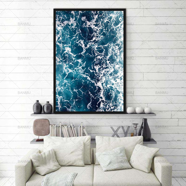 Modular pictures Decoration for living room wall art Seascape Landscape Canvas Painting new arrivals morden print Without Frame