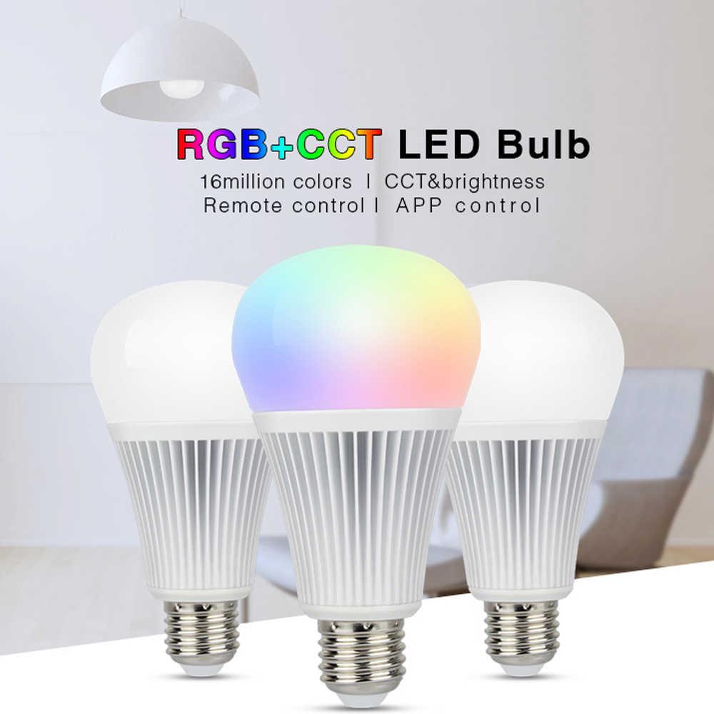 Milight Led ampoule CCT/RGBW/RGBWW/RGB + CCT ampoule à intensité variable 16 millions de couleurs MR16 GU10 E14 E27 12W & Alexa wifi contrôleur