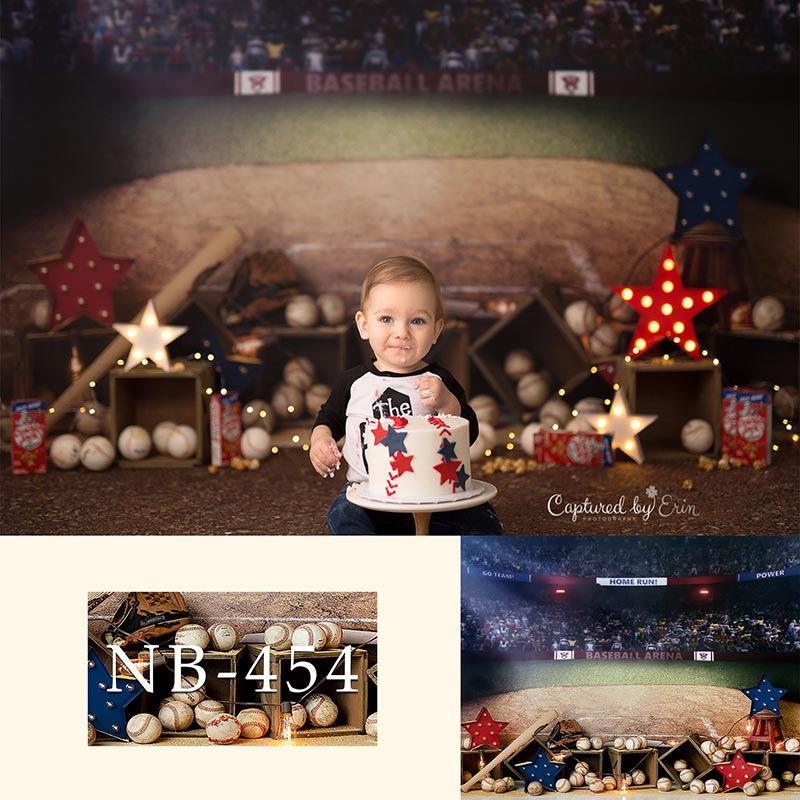 Baseball Sports Green Photography Backdrop Newborn Baby Photo Background Child Birthday Banner Baby Shower Photo Booth