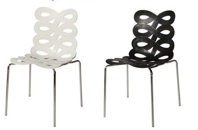 The Fashion And Art Dining Chair Hollow Chairs Plastic Metal Furniture