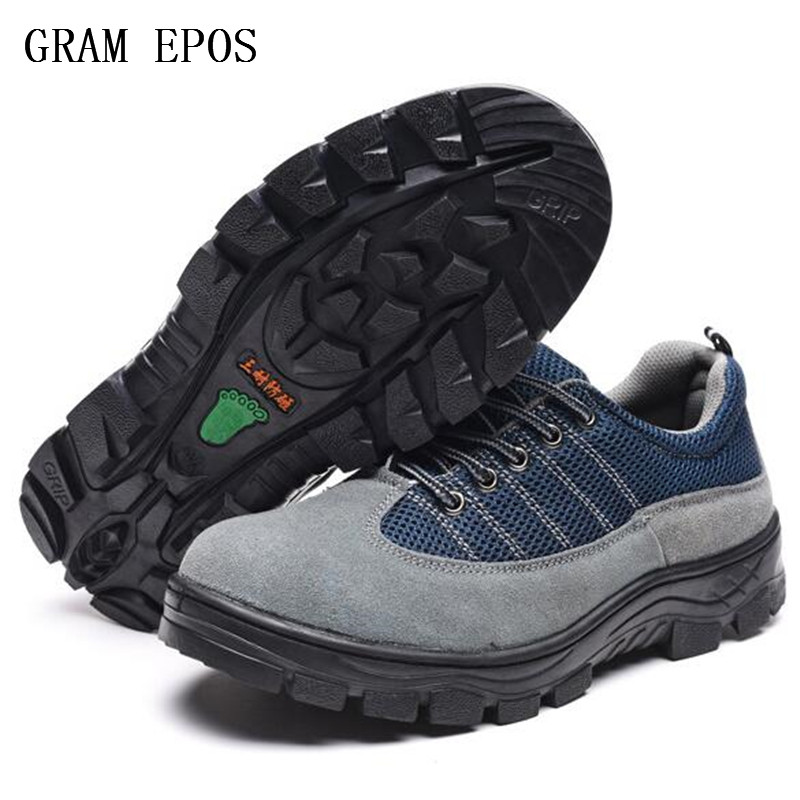 plus size 45 46 Men Boots Work Safety Shoes Steel Toe Cap For Anti-Smashing Anti-Puncture Durable Breathable Protective Footwear
