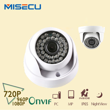 MISECU 2.8mm/3.6mm grand angle 1MP/1.3MP/2MP Onvif P2P 720 P/960 P/1080 P ABS IP Caméra dôme Téléphone Vue 36 pc Nuit Vision CCTV XMEye