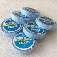 Groothandel 20 rolls 3 yards Blue lace front ondersteuning tape voor tape haarverlenging