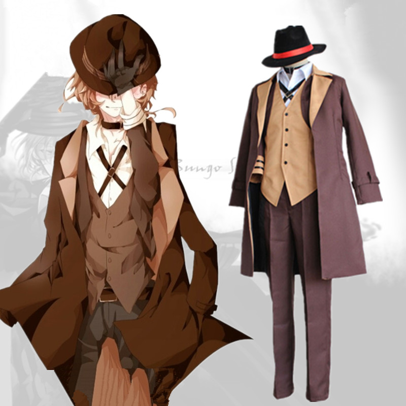 Anime Bungo Stray Dogs Nakahara Chuya Cosplay Costumes Full Set Detective Uniform Halloween Clothes