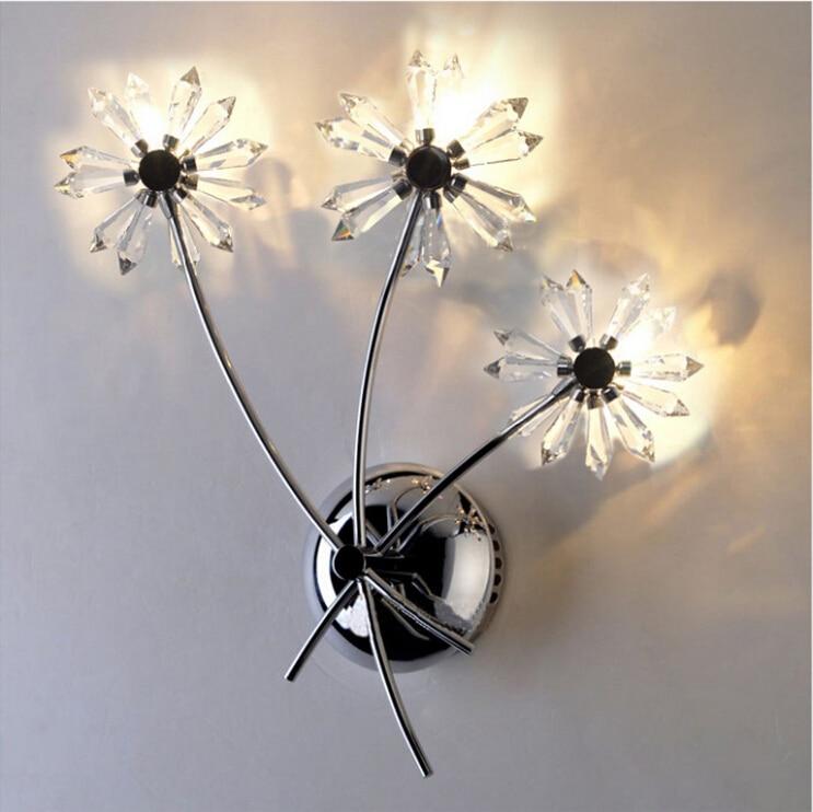 Modern Chrysanthemum Wall Lamp Hallway Bedroom Bedside ... on Flower Wall Sconces id=33725