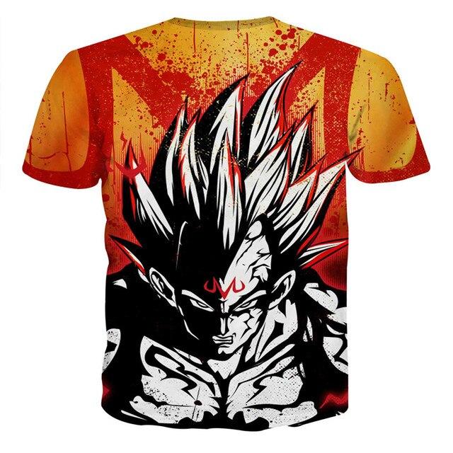 ESDAF Summer Men fashion Comfortable 3D Harajuku style Dragon Ball Wukong printing Short sleeves T shirts Brand cotton apparel