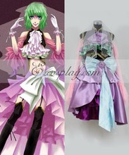 Vocaloid Sandplay Singing of The Dragon Gumi Cosplay Costume  E001
