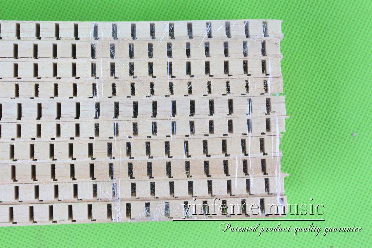 50 bandes guitare intérieur reliure doublure en bois longueur 740x17x5/1 épaisseur #100