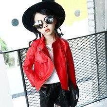 цена на Girls Leather Coat Children Fashion PU Jacket 2019 Spring Autumn Girls Zipper Clothing Coats Kids Outerwear 4 6 8 10 12 13 Years