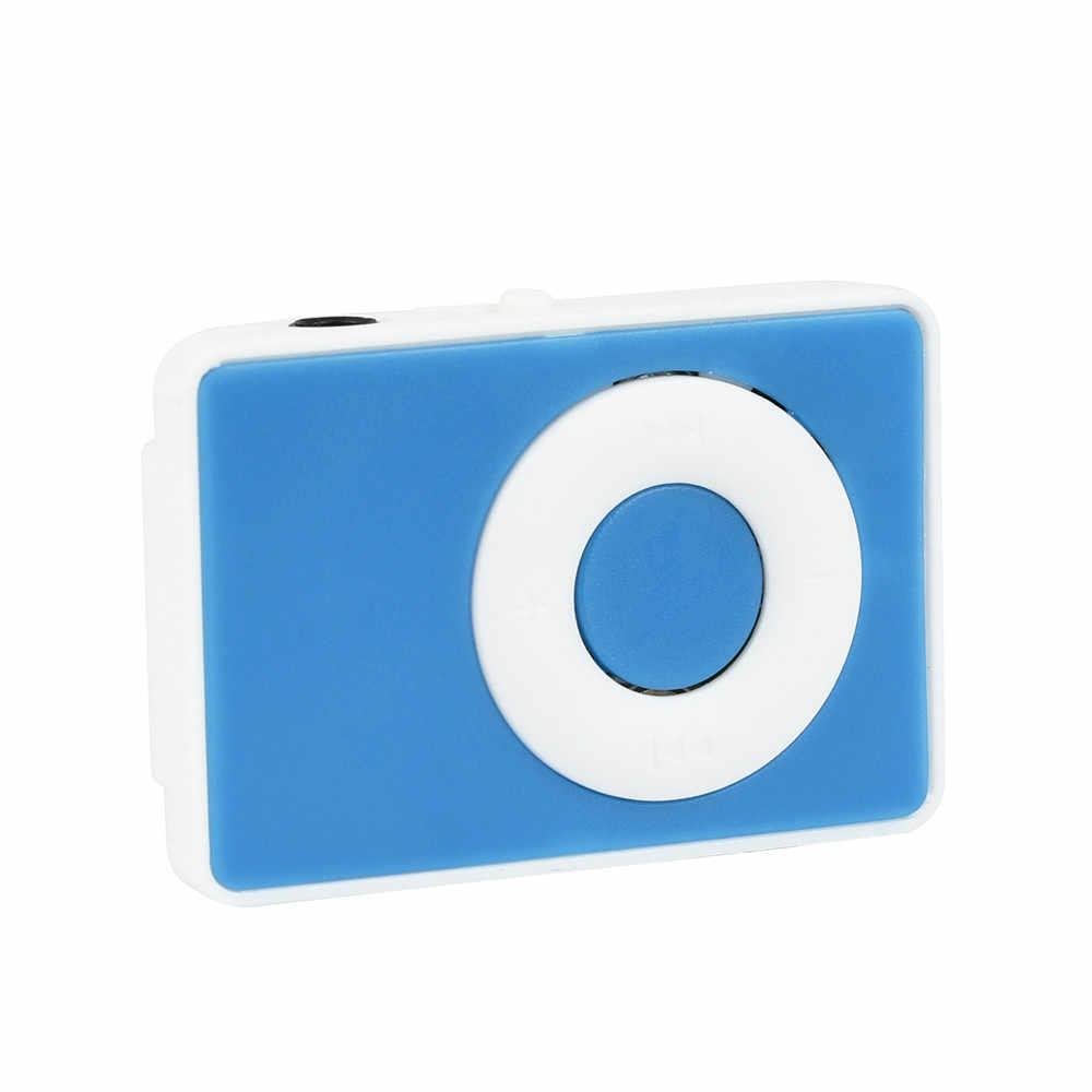 Clip USB Digital Mini Mp3 reproductor multimedia de música compatible con tarjeta Micro TF de 32 GB
