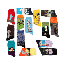New Personality World Famous Painting Oil Painting Cotton Art Retro Series Socks